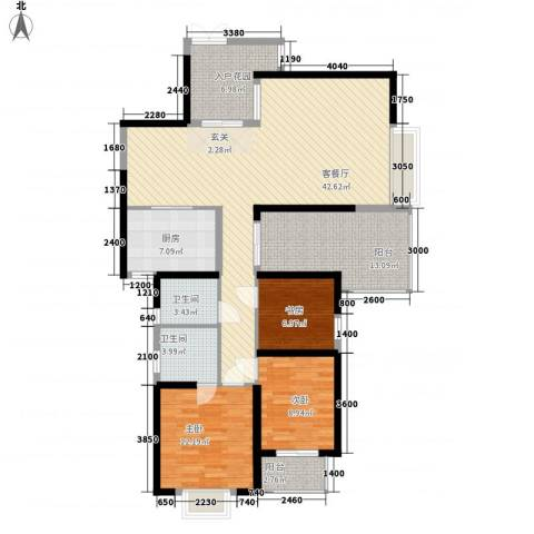 海滨东区3室1厅2卫1厨154.00㎡户型图