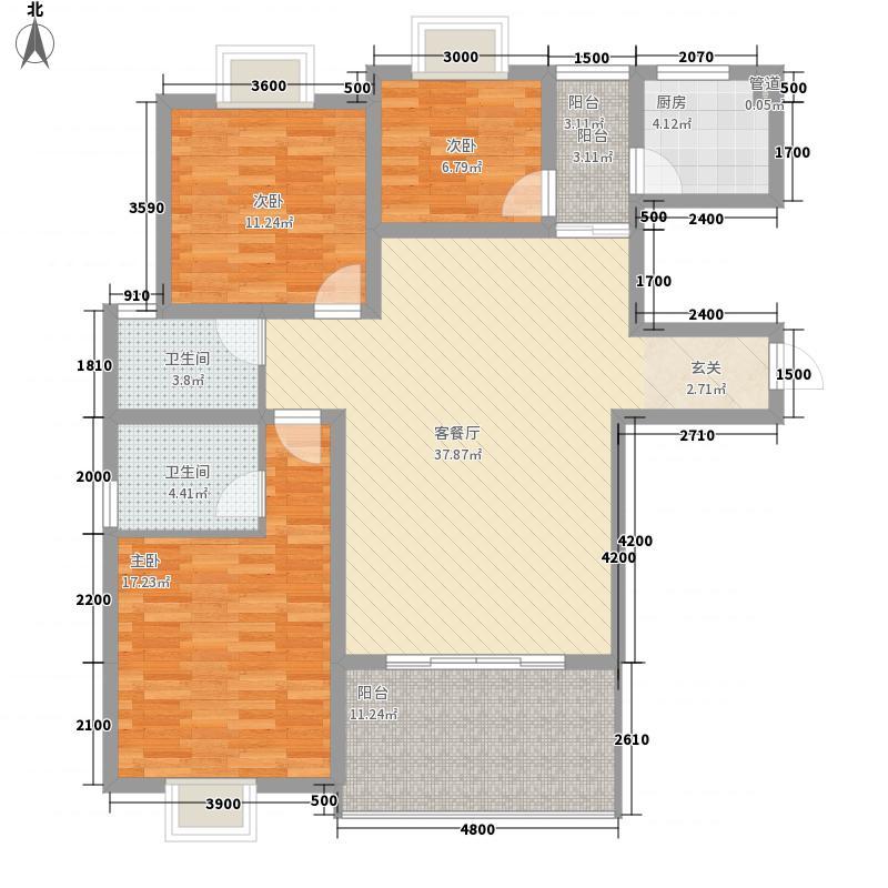 统建大江园154.00㎡户型3室
