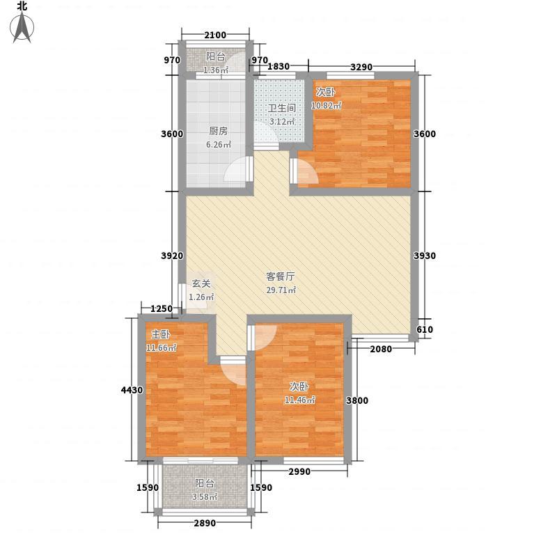 钢西新村户型3室