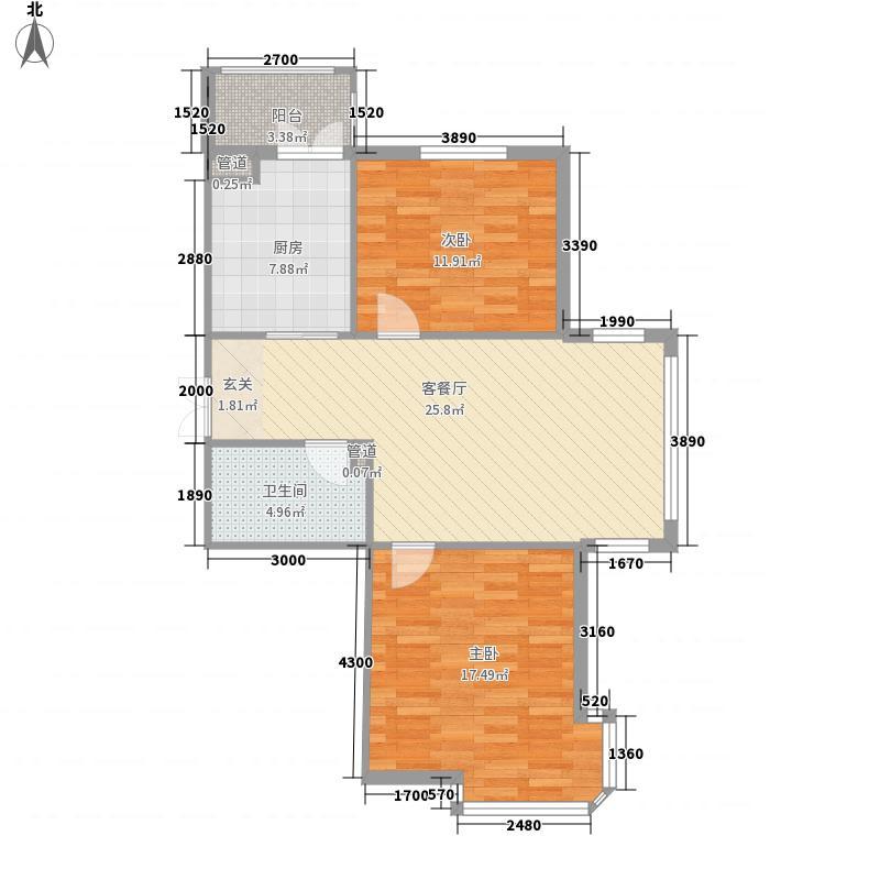 丰乐58.00㎡小区户型2室