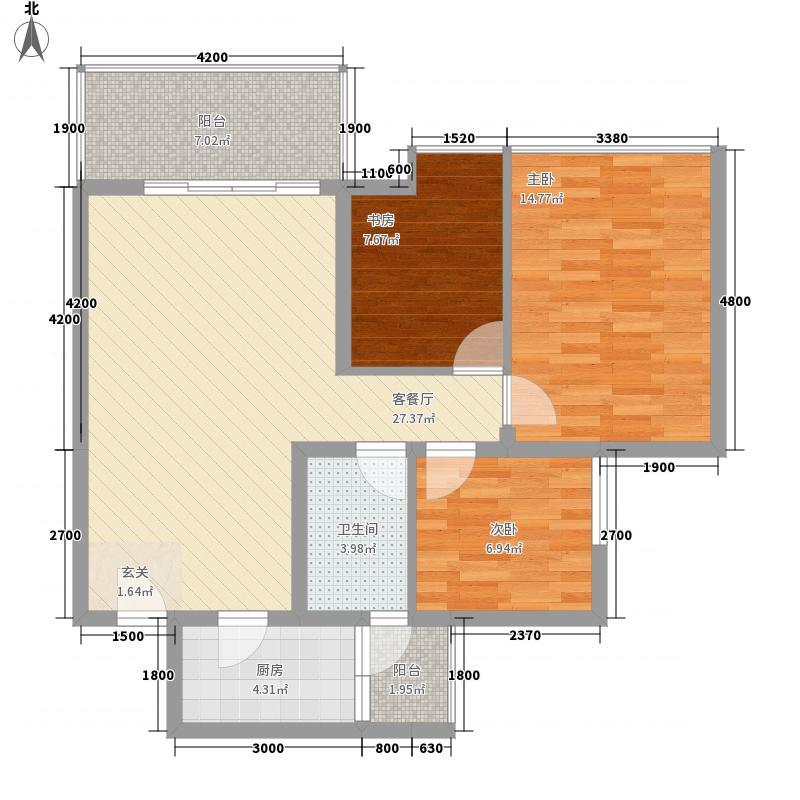 玉成豪园31户型3室2厅2卫1厨
