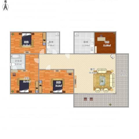 绿景华庭4室1厅1卫2厨246.00㎡户型图