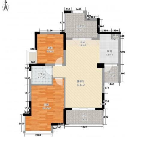 华雅花园2室1厅1卫0厨111.00㎡户型图