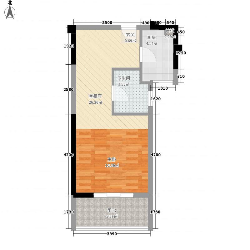 新都会国贸公寓户型1室