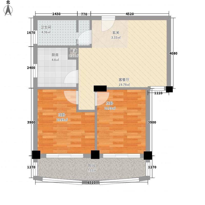 南湖狮山美庐3.00㎡户型2室