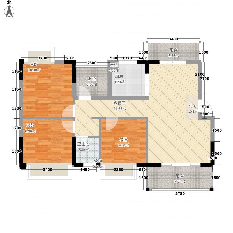 豆仔尾路295号民房3-2-1-1-3户型3室2厅1卫1厨