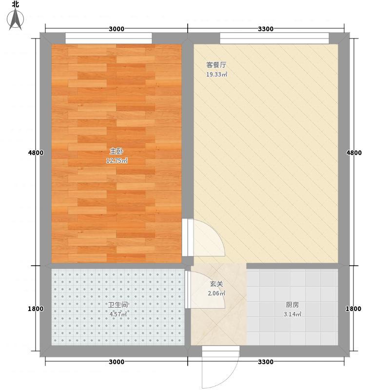 浦桥大厦2户型1室1厅1卫1厨