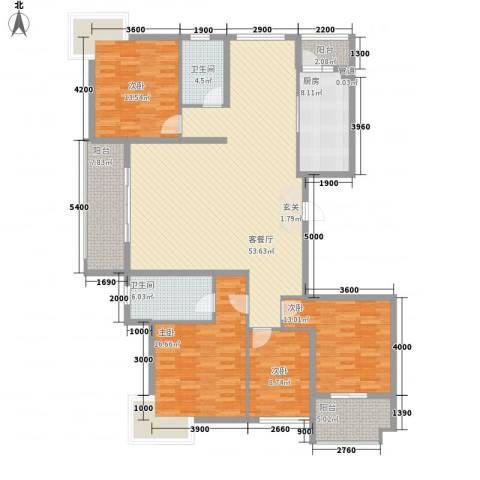 东方花园4室1厅2卫1厨139.16㎡户型图