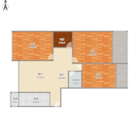 假日丽景4室1厅1卫2厨181.00㎡户型图