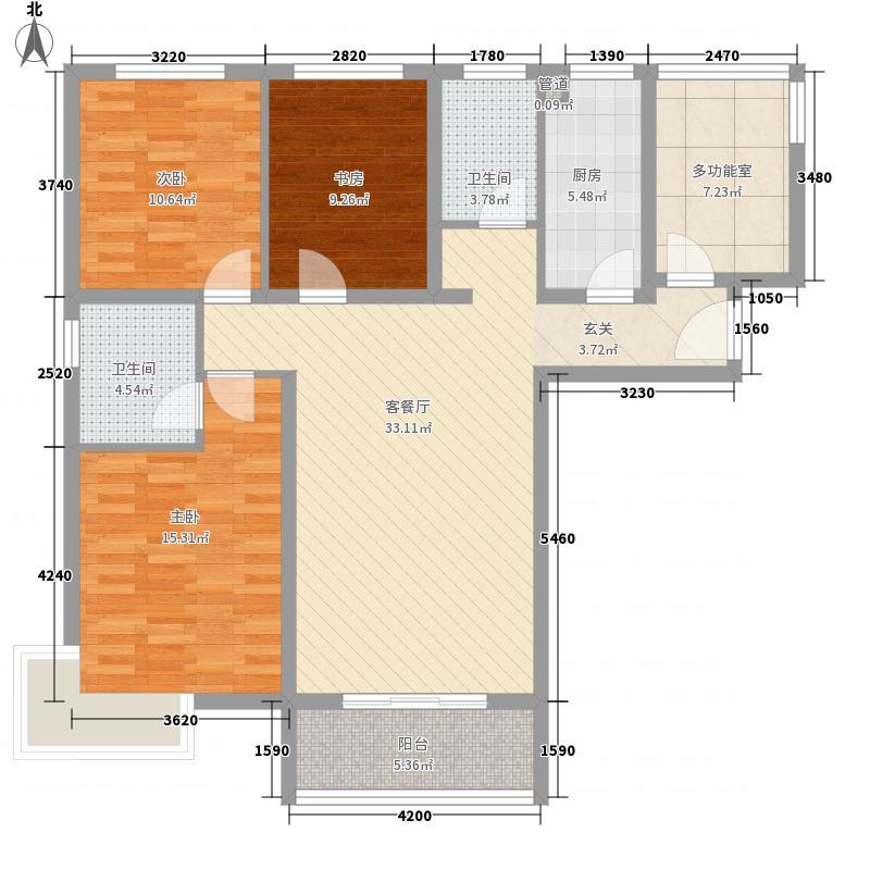 东亚国际城136.00㎡8号楼户型