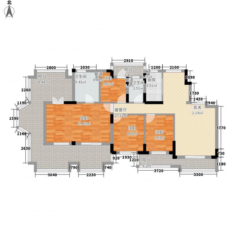恒大帝景171.00㎡G7户型4室2厅2卫1厨