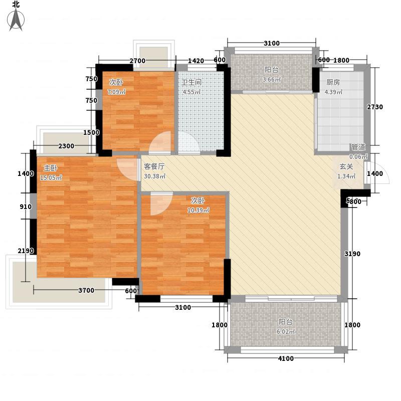 建业大厦户型3室2厅2卫1厨
