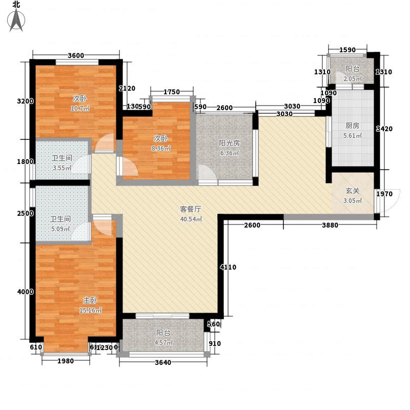 八一12.00㎡小区户型3室