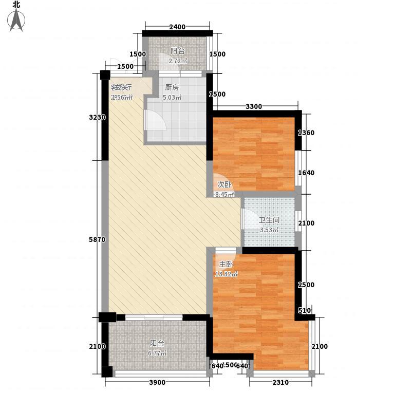 建业大厦户型2室2厅2卫1厨