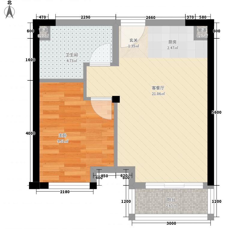 南国悦公馆户型1室1厅