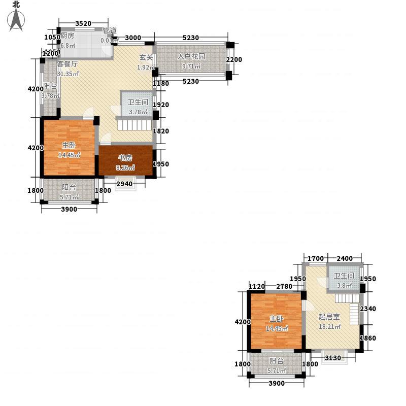 升华现代城161.51㎡C3单元A1户型3室3厅2卫1厨