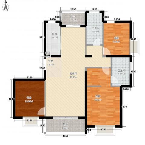 东亚国际城3室1厅2卫1厨147.00㎡户型图
