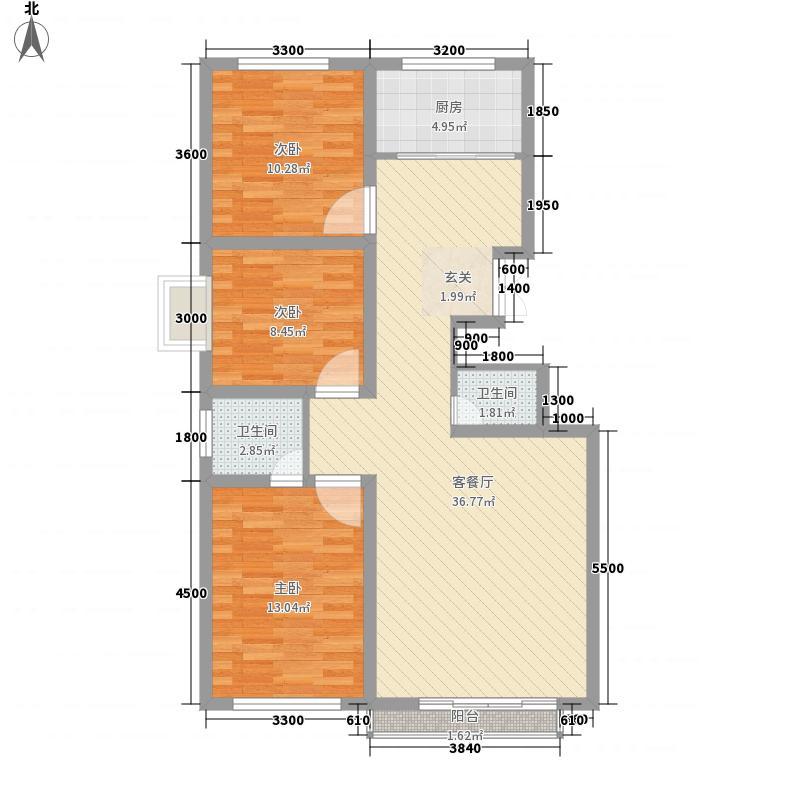 警苑小区户型3室2厅