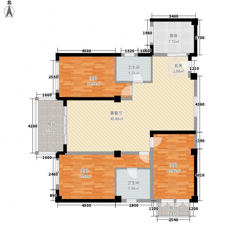 古庄教育楼7户型3室2厅2卫1厨
