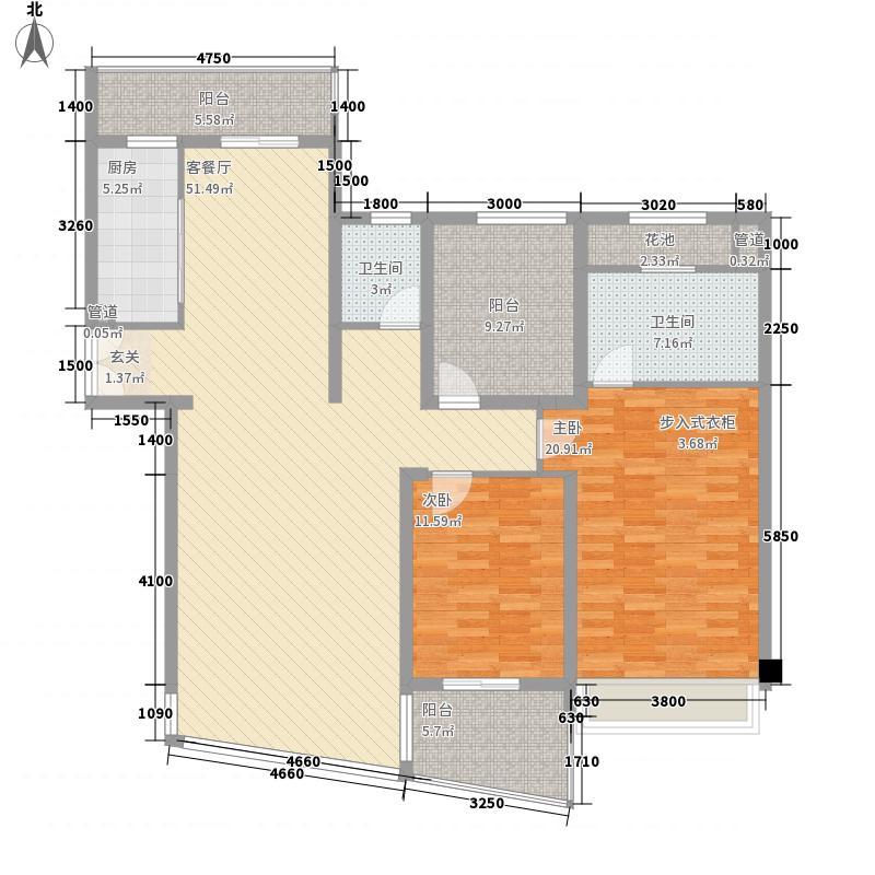 第二城闽南印象2居户型2室2厅2卫1厨