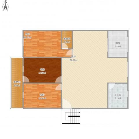 石狮市邮电新村3室1厅1卫1厨173.00㎡户型图