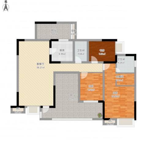 国电金海域3室1厅2卫1厨178.00㎡户型图