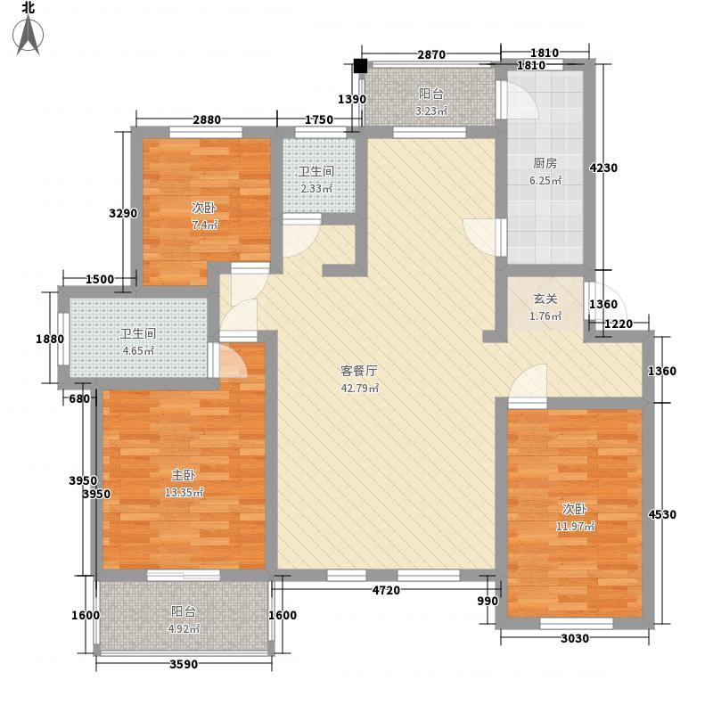 原阳上宅公园世纪14.00㎡N4户型3室2厅2卫1厨