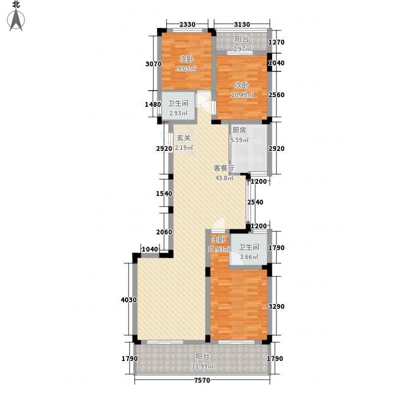 荣御山庄15.00㎡山景花园洋房C户型3室2厅2卫