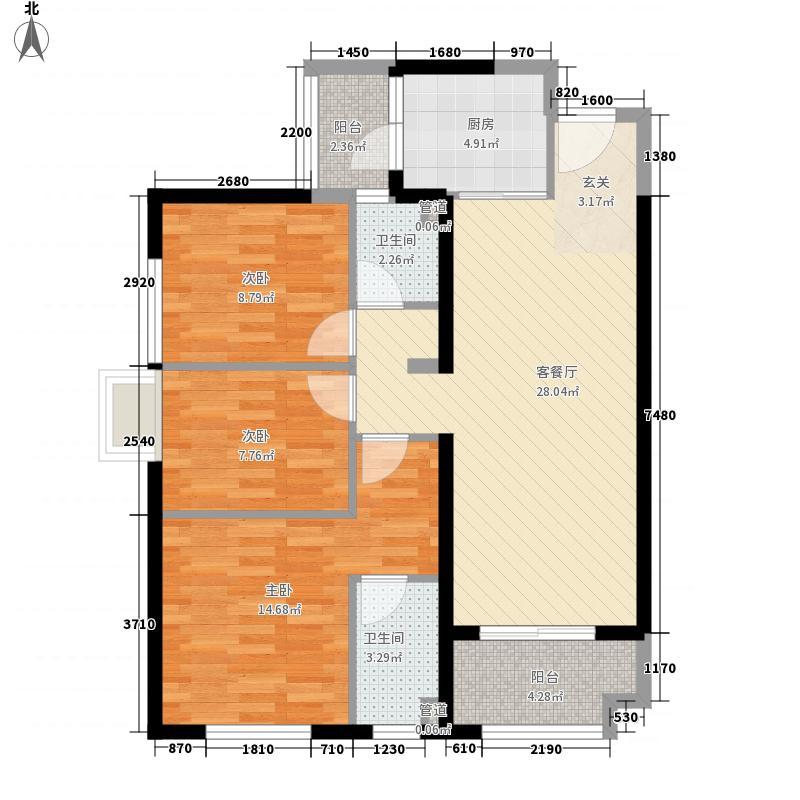 万科广场9#楼标准层05户型