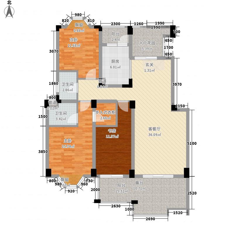 博海城二期6栋A型平层户型