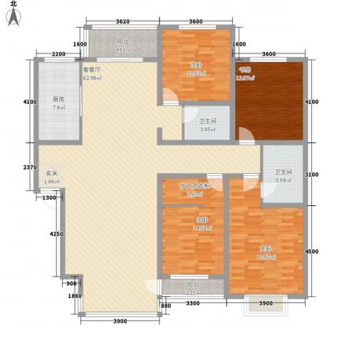 南湖职工新村4室1厅2卫1厨204.00㎡户型图