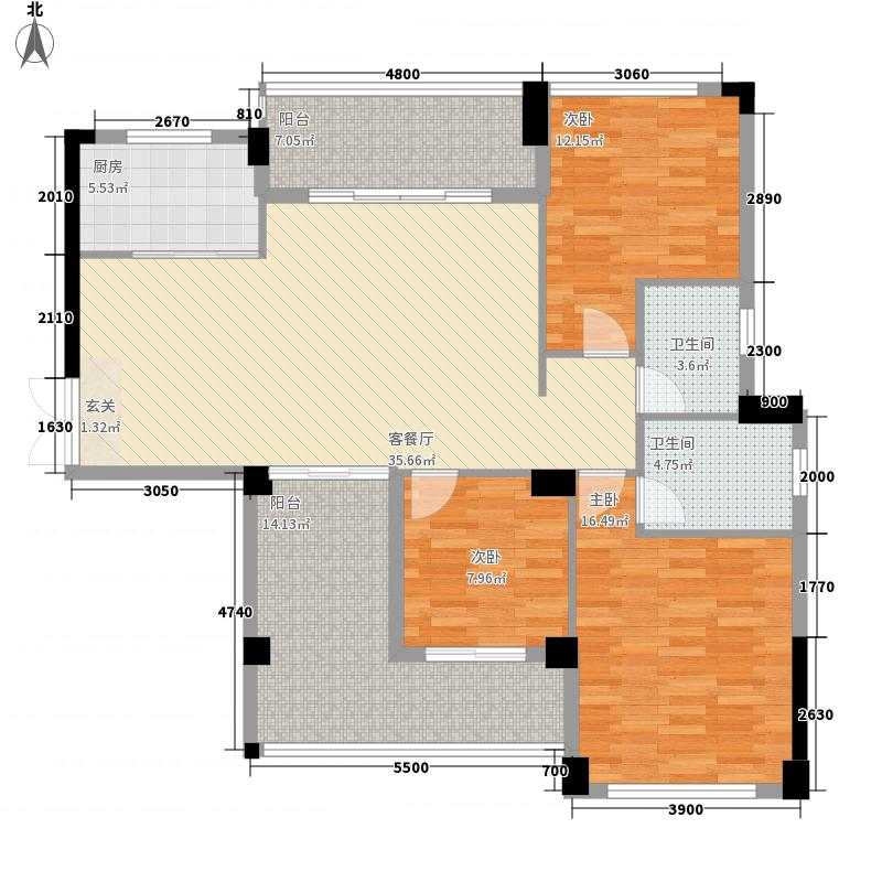 金家新都汇137.54㎡二期C4-1户型3室2厅2卫