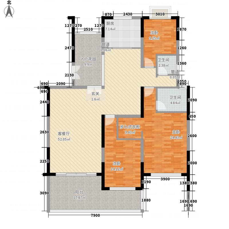 东岸御花园175.66㎡御嵘阁03户型3室2厅2卫1厨