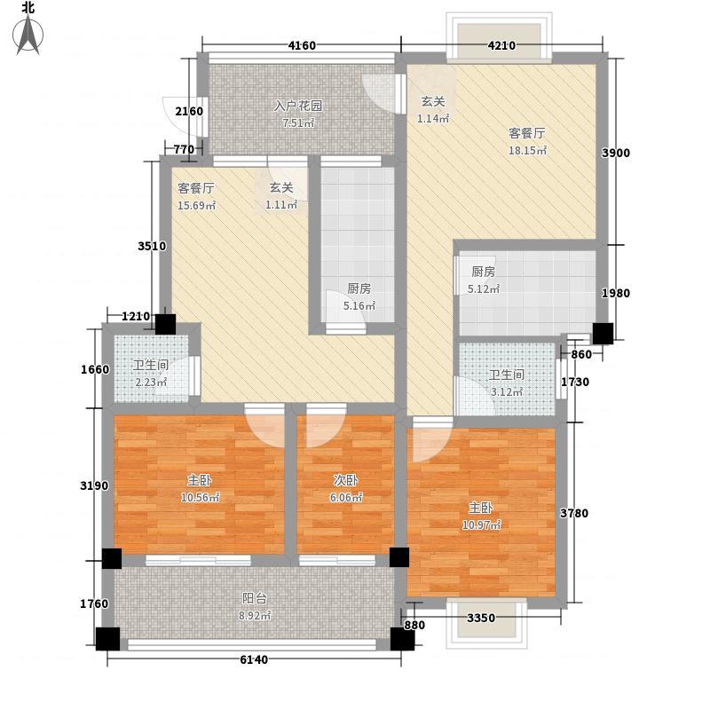 立欣洲3室2厅2卫2厨93.49㎡户型图