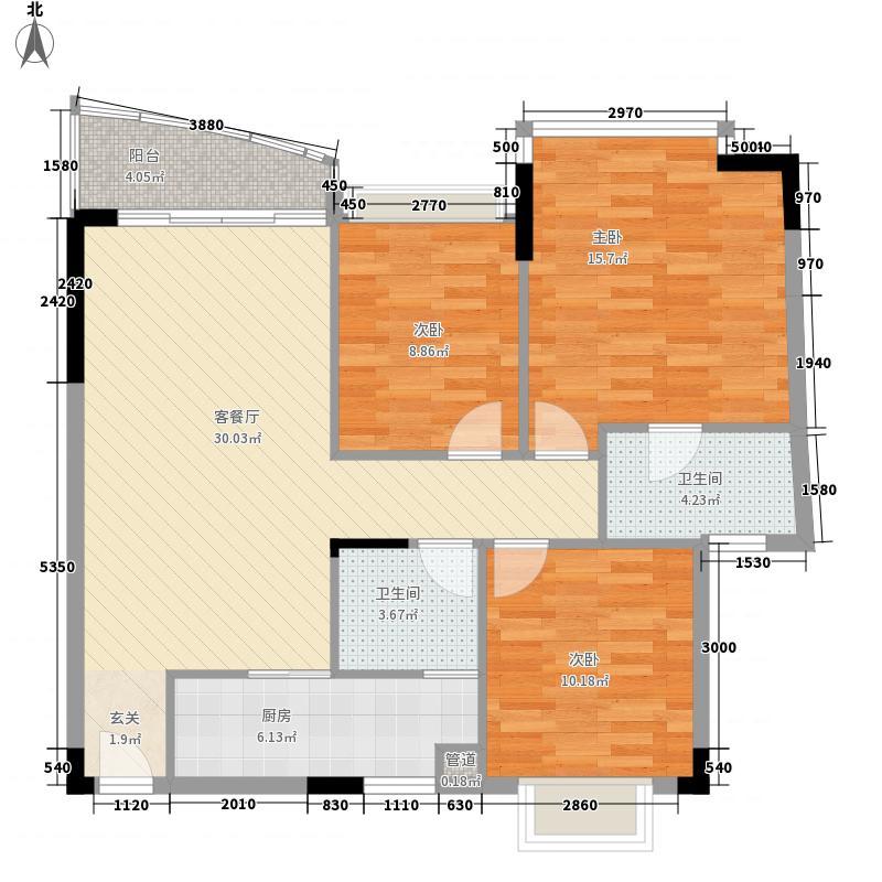 宝马山花园96.00㎡宝马山花园3室户型3室