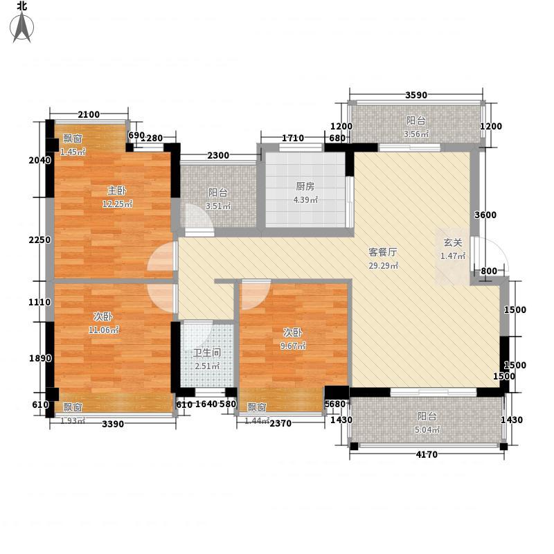 三航六宿舍3-2-1-1-3户型3室2厅1卫1厨