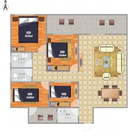 安侨苑6603814室1厅2卫1厨262.00㎡户型图