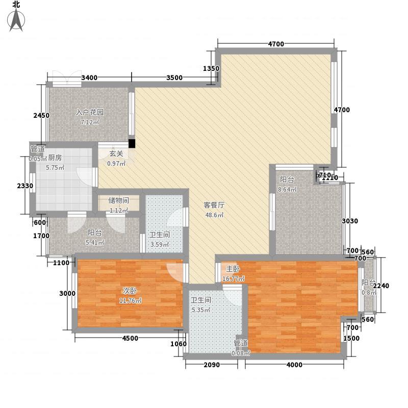 红墙建行单位宿舍65.00㎡户型2室
