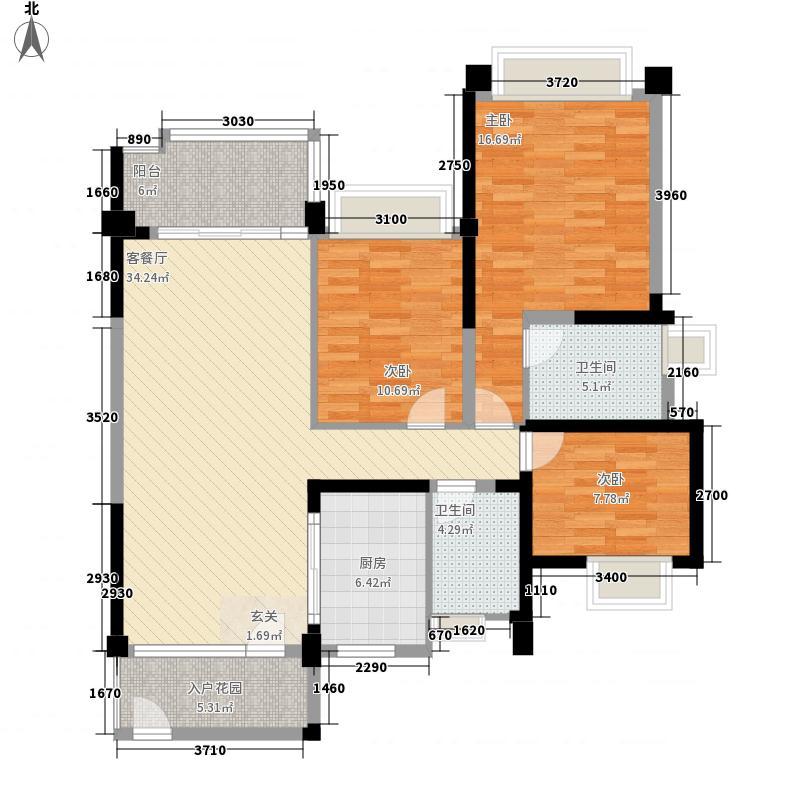 雅居乐约克郡138.00㎡10栋/11栋0户型3室2厅2卫1厨