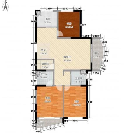 洪塘集资楼3室1厅2卫1厨146.00㎡户型图