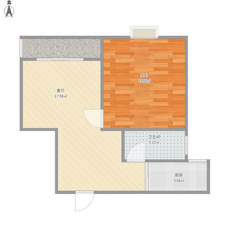 一期15号702室户型图