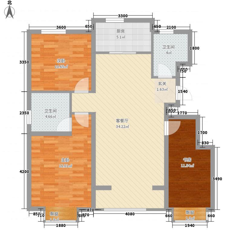 三航六宿舍3-2-2-1-1户型3室2厅2卫1厨