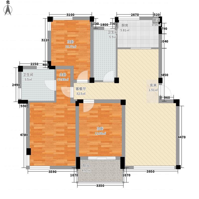 柏庄中路136.00㎡小区户型3室