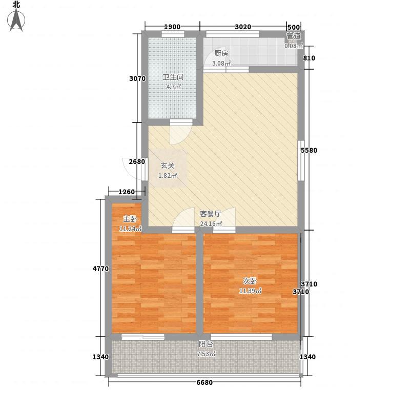 新城金水岸91.32㎡新城金水岸户型图2室2厅1卫户型10室