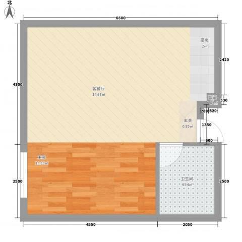 谷方1厅1卫0厨64.00㎡户型图