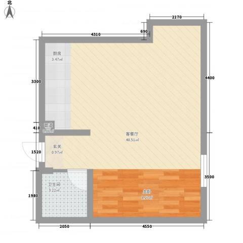 谷方1厅1卫0厨71.00㎡户型图