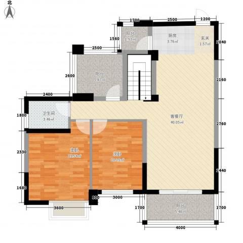 南华园四区别墅2室1厅1卫0厨116.00㎡户型图