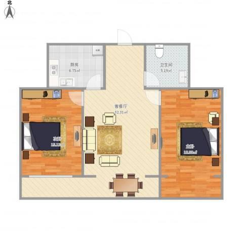 华信园2112室1厅1卫1厨105.00㎡户型图