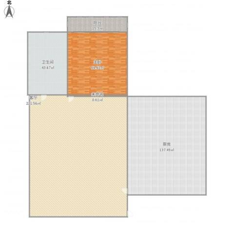 信义庄小区1室1厅1卫1厨609.00㎡户型图