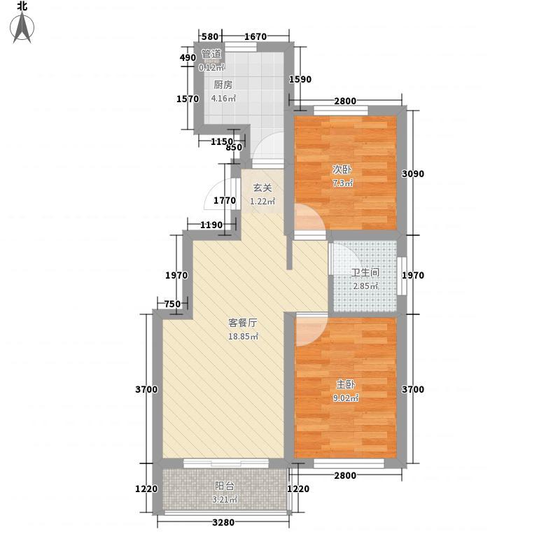 文登路67.00㎡小区户型3室1厅1卫1厨